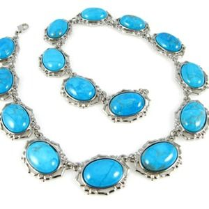 Jackie Kennedy Replica Turquoise Necklace