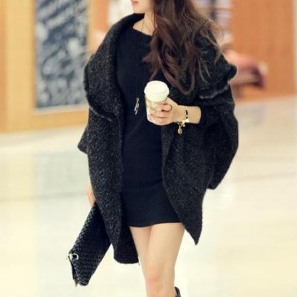 Korean style rabbit fur oversized loose sweater