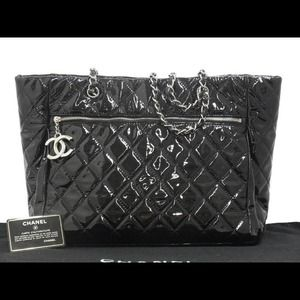 Authentic Chanel Patent Leather Tote