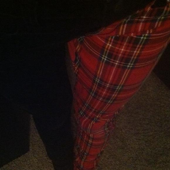 c6b4da70799e Royal Bones Pants | Half Red Plaid Half Black | Poshmark
