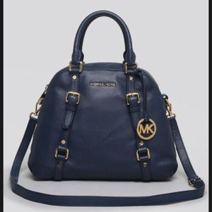 Michael Kors Handbags - Michael Kors Large Bedford Bowling Satchel Navy