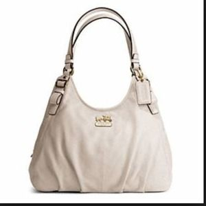 Coach Handbags - Coach madison leather maggie w/ BRASS PARCHMENT