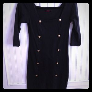 LF Dresses & Skirts - S Black 3/4 length sleeve Motel Dress from LF