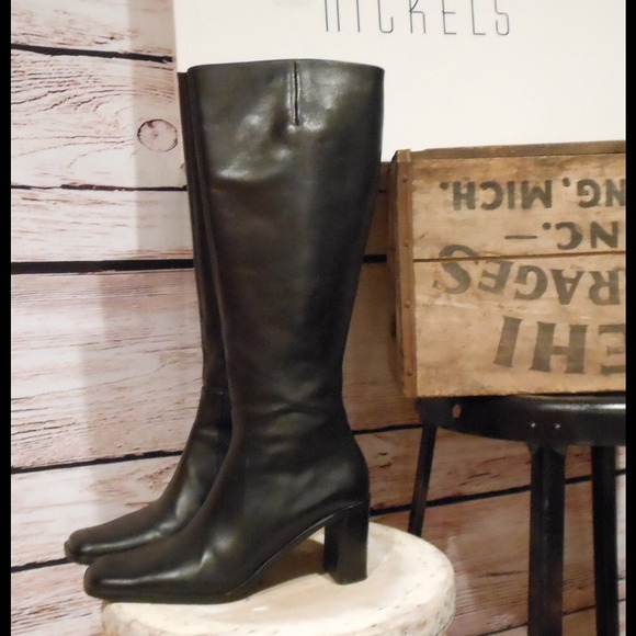 Nickels Shoes Tall Black Dress Boots 7 Riding Poshmark
