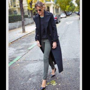 Nomenclature Jackets & Blazers - Black Trench Rain Coat sz 14L long lined XL