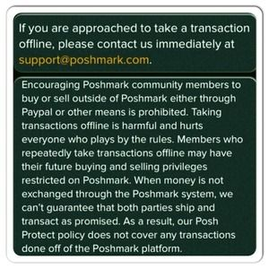Poshmark Other - Poshmark rules: RE:  What items to list & Paypal