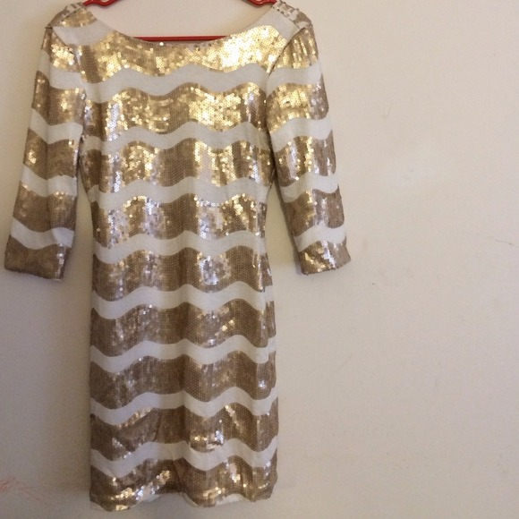 38% off Charlotte Russe Dresses & Skirts - Gold and white party ...