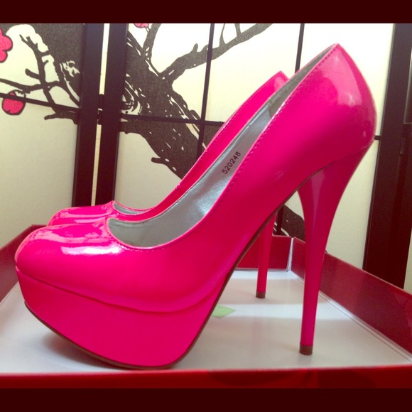 Charlotte Russe - Charlotte Russe hot pink high heels from Cat's ...