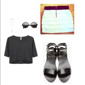 Express black and white skirt