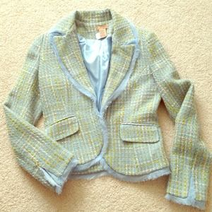 """twentyone"" cute tweet blazer - like Chanel"