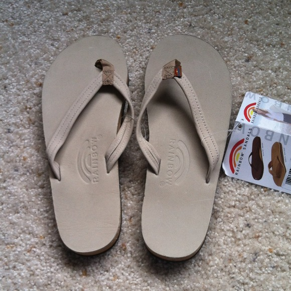 92906db0a6ef8 RESERVED  Rainbow Sandals Sand Leather Flip Flops