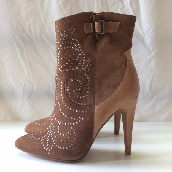 ALDO Shoes - ALDO || Brown Suede JODETHA Stud Booties 2