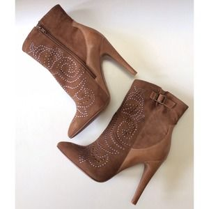 ALDO Shoes - ALDO || Brown Suede JODETHA Stud Booties 1