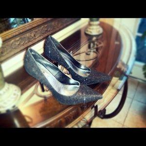 Shoes - 🔹REDUCED!🔹 Sparkly Black Stilettos