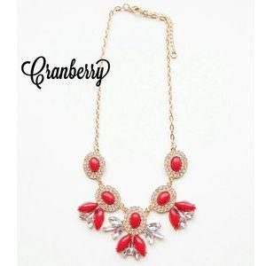 Jewelry - *SALE!* Cranberry Sunburst Statement Necklace