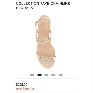 J. Crew Collection pave link Sandals
