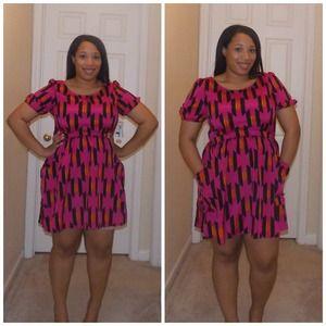 Allen B Printed dress