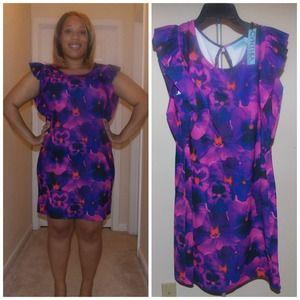 Cynthia Rowley flutter sleeve dress