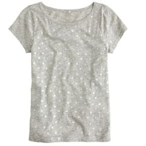 J.crew VINTAGE COTTON CAP-SLEEVE TEE PAINTED DOTS