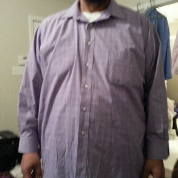 Men's IZOD Purple striped dress shirt