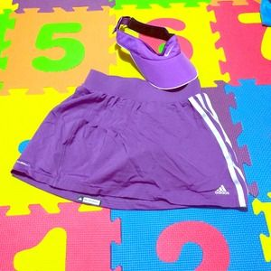NIKE VISOR PURPLE and ADDIDAS TENNIS SKORT