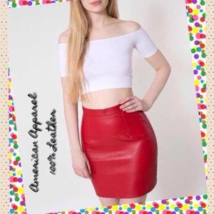 American Apparel Dresses & Skirts - 🆕American Apparel 100% Leather Skirt