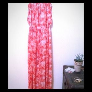 Jumper red and white floral size large