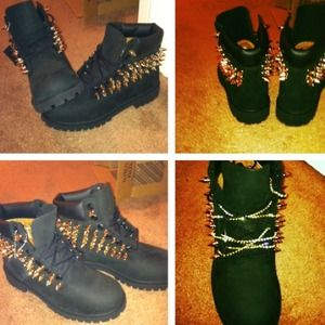 Authentic customized spiked timberlands e80238081