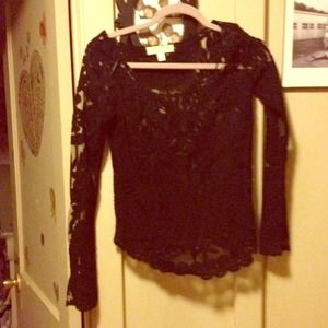 Urban Outfitters Tops - Staring at Stars Black Embroidered Lace Top