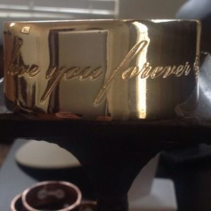 "Marley B Parker Jewelry Jewelry - GP- STATEMENT BANGLE -""I LOVE YOU"""