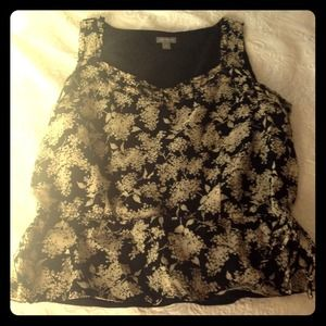 Ann Taylor Tops - Black and Tan Ann Taylor spring top