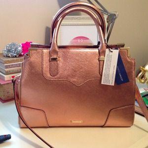 Rebecca Minkoff Handbags - Rebecca Minkoff amorous satchel rose gold. NWT