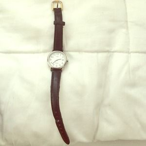 Timex Watch w leather band