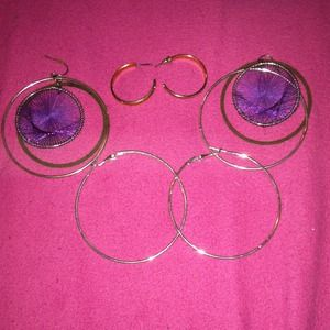 3 pairs of earrings for $6!
