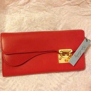 """FLASH SALE"" Red wallet, Kate Landry"