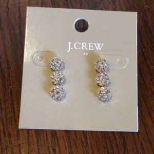 J.crew CRYSTAL DROP STUD EARRINGS