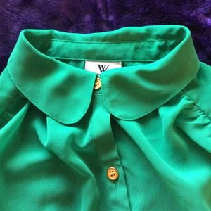 Peter Pan collared top