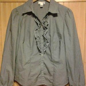 PRICE DROP!!! Loft pinstripe shirt
