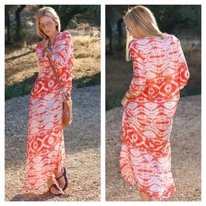 Dresses & Skirts - Tanya Scheer (boom festival) silk maxi dress.