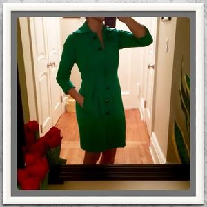 DVF Apple Green Coat