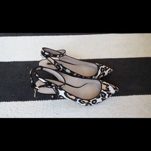 Zara Shoes - Animal print ankle strap heels
