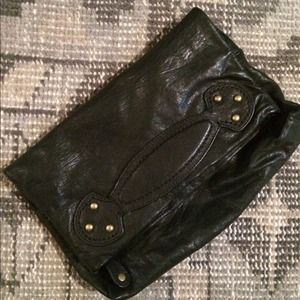 GAP Clutches & Wallets - Black leather clutch with handle