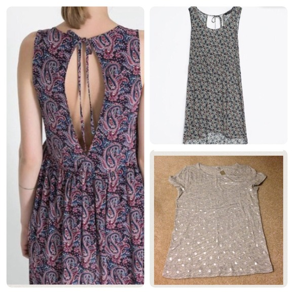 Zara Dresses & Skirts - Bundle - Zara dresses & J.crew Dot Tee