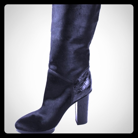 with mastercard sale online Devi Kroell Ponyhair Knee-High Boots outlet discount sale lN96FX1