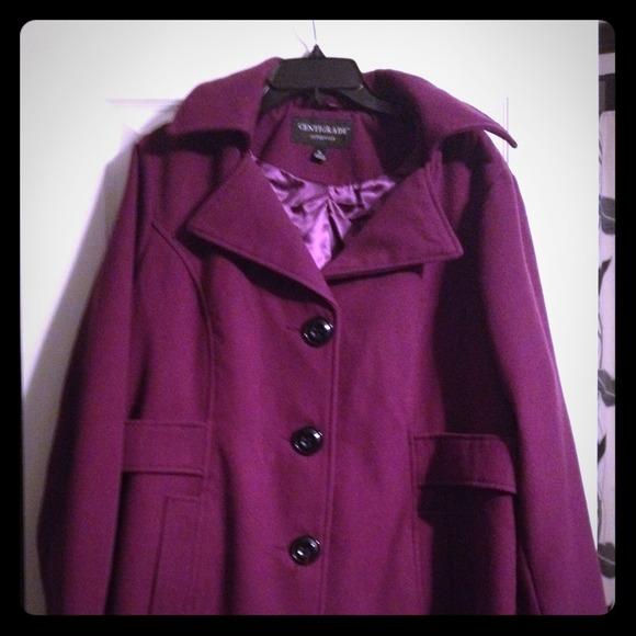 76% off Centigrade Outerwear - Centigrade Purple Pea Coat sz XL