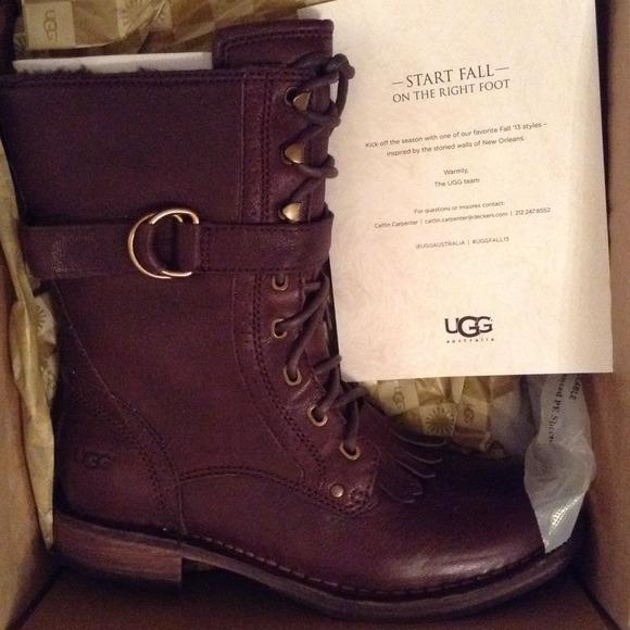 ugg tan combat boots