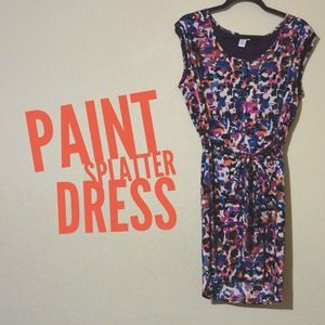 Bar III Dresses & Skirts - Colorful splatter dress - L