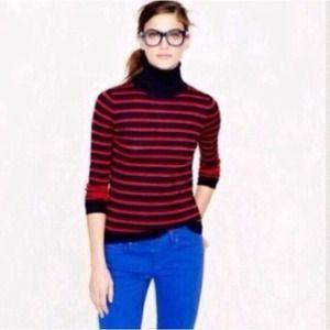 J. Crew Sweaters - J. CREW Merino Stripe Turtleneck