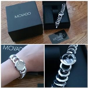MOVADO Rondiro stainless steel mirror face watch
