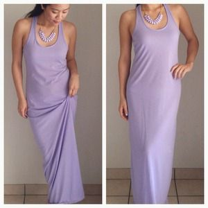 Lovely Racerback Lavender Maxi Dress